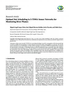 Optimal Fair Scheduling in S-TDMA Sensor Networks for Monitoring ...