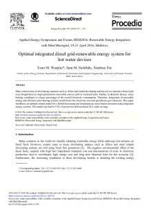 Optimal Integrated Diesel Grid-renewable Energy ... - ScienceDirect.com