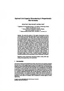 Optimal Link Capacity Dimensioning in Proportionally Fair Networks