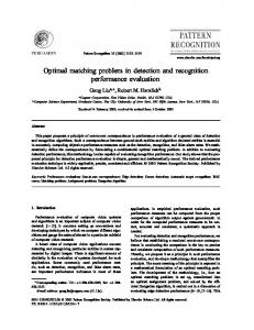 Optimal Matching Problem in Detection and ... - Robert Haralick