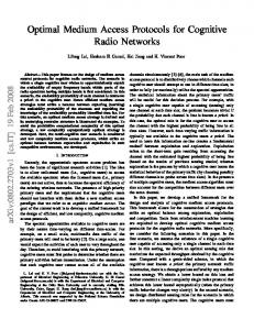 Optimal Medium Access Protocols for Cognitive Radio Networks