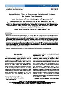 Optimal Optical Filters of Fluorescence Excitation ... - ScienceCentral