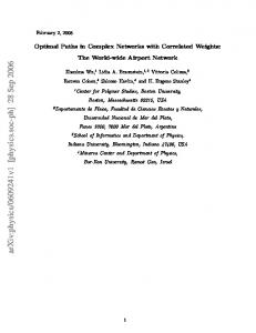 Optimal Paths in Complex Networks with Correlated Weights: The ...