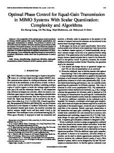 Optimal Phase Control for Equal-Gain Transmission in ... - IEEE Xplore