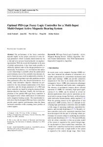 Optimal PID-type Fuzzy Logic Controller for a Multi ...
