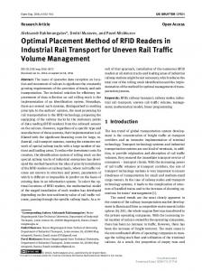 Optimal Placement Method of RFID Readers in Industrial Rail ...