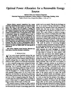 Optimal Power Allocation for a Renewable Energy Source - arXiv