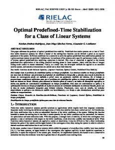 Optimal Predefined-Time Stabilization for a Class of Linear Systems