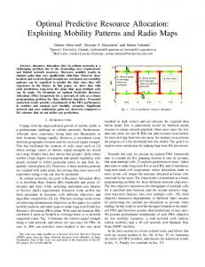 Optimal Predictive Resource Allocation: Exploiting Mobility Patterns