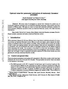 Optimal rates for parameter estimation of stationary Gaussian processes
