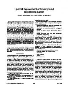 Optimal Replacement of Underground Distribution Cables - IEEE Xplore