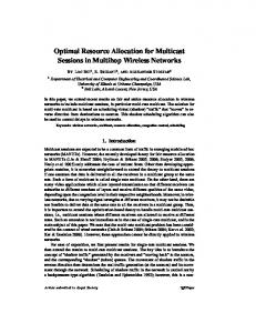 Optimal Resource Allocation for Multicast Sessions in ... - CiteSeerX