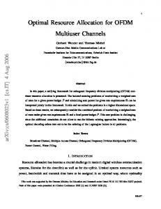 Optimal resource allocation for OFDM multiuser channels