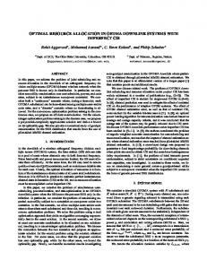 Optimal Resource Allocation in OFDMA Downlink Systems ... - OSU ECE