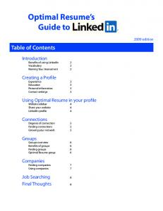 Optimal Resume's Guide to