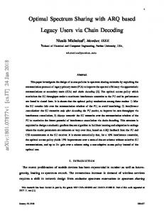 Optimal Spectrum Sharing with ARQ based Legacy Users via ... - arXiv
