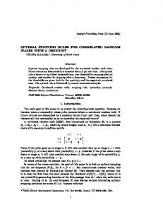optimal stopping rules for correlated random walks with a discount