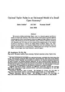 Optimal Taylor Rules in an Estimated Model of a Small ... - CiteSeerX