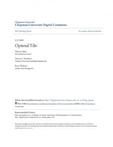 Optimal Tilts - Chapman University Digital Commons