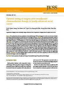 Optimal timing of surgery after neoadjuvant chemoradiation therapy in