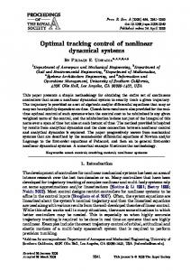 Optimal tracking control of nonlinear dynamical systems