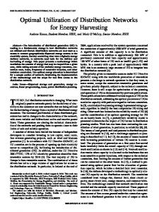 Optimal Utilization of Distribution Networks for Energy ... - IEEE Xplore