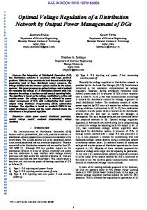 Optimal Voltage Regulation of a Distribution Network by ... - IEEE Xplore