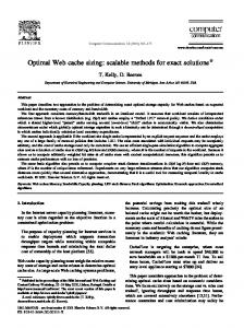 Optimal Web cache sizing: scalable methods for ... - Semantic Scholar