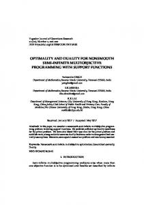 optimality and duality for nonsmooth semi-infinite ...