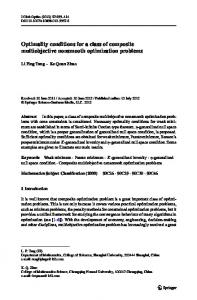 Optimality conditions for a class of composite multiobjective ...