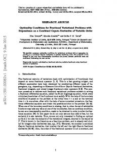 Optimality Conditions for Fractional Variational Problems with ...
