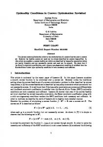 Optimality Conditions in Convex Optimization ... - Semantic Scholar