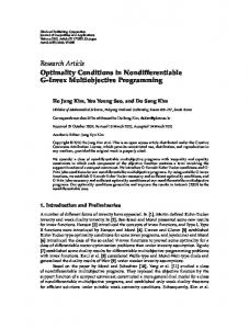 Optimality Conditions in Nondifferentiable G-Invex