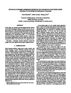 OPTIMALLY SPARSE APPROXIMATIONS OF MULTIVARIATE ...