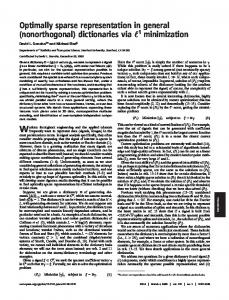 Optimally sparse representation in general (nonorthogonal ...