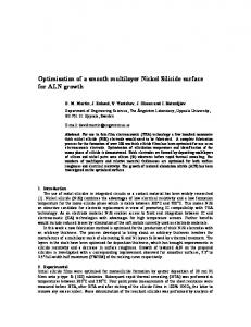 Optimisation of a smooth multilayer Nickel Silicide ...