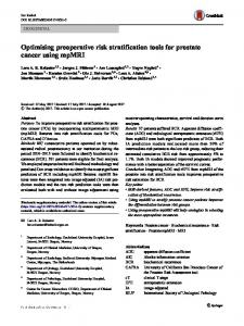 Optimising preoperative risk stratification tools for