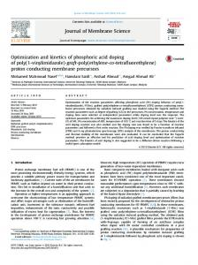 Optimization and kinetics of phosphoric acid doping of