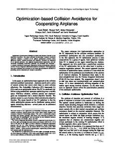 Optimization-Based Collision Avoidance for Cooperating Airplanes