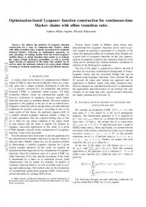 Optimization-based Lyapunov function construction for continuous ...
