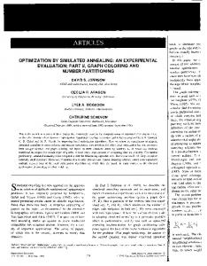 Optimization by Simulated Annealing: An Experimental Evaluation