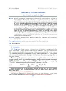 Optimization by Stochastic Continuation - Creatis - INSA Lyon