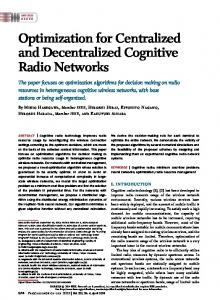 Optimization for Centralized and Decentralized ... - IEEE Xplore