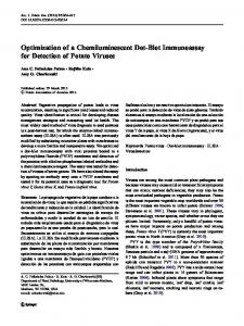 Optimization of a Chemiluminescent Dot-Blot ... - Springer Link