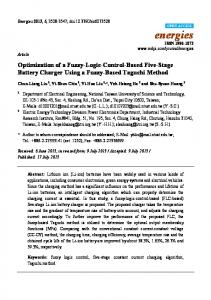 Optimization of a Fuzzy-Logic-Control-Based Five-Stage ... - MDPI