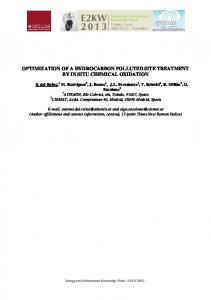 optimization of a hydrocarbon polluted site treatment by in ... - Bioxisoil
