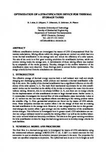 optimization of a stratification device for thermal ... - Stockton University