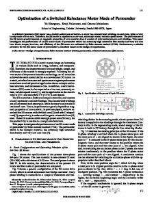 Optimization of a Switched Reluctance Motor Made of ... - IEEE Xplore