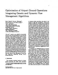 Optimization of Airport Ground Operations