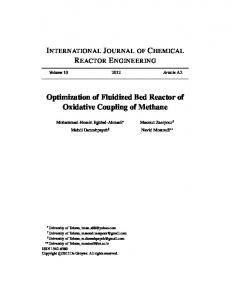 Optimization of Fluidized Bed Reactor of Oxidative Coupling of Methane